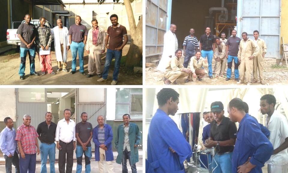 Dosifier training at for companies in Ethiopia.