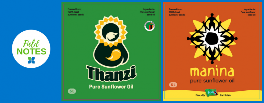 graphics created for sunflower oil brand