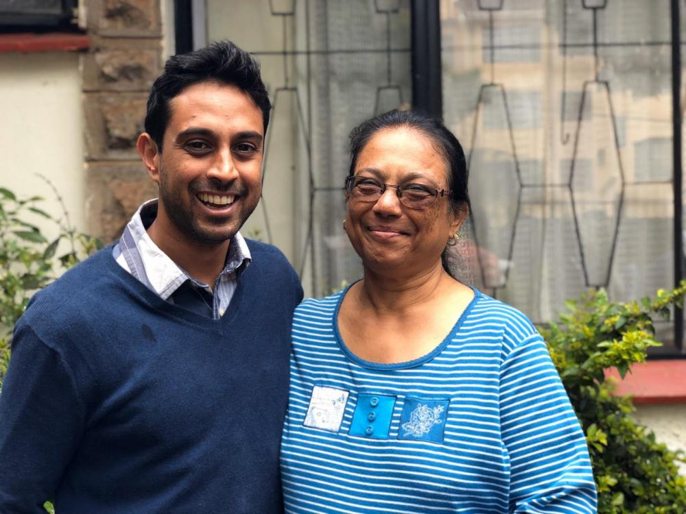 Tropical Lush Managing Director, Adarsh Shah, with his mom and Tropical Lush Founder, Surekha Shah